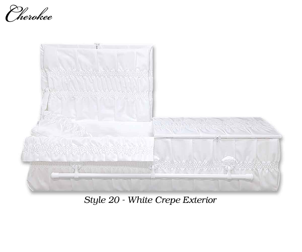style 20 white crepe interior
