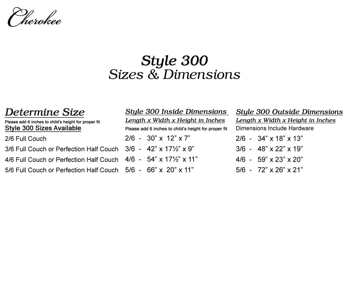 Style 300 - Carolina Poplar Hardwood - Cherokee Child Caskets & Supplies