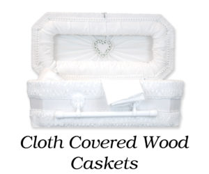 Cloth Covered Wood Caskets